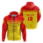 Custom Personalised Samoa College Zip Hoodie Sport Style