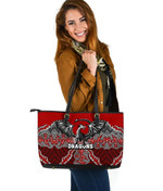Dragons Leather Tote St. George Aboriginal A7