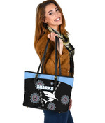 Cronulla Leather Tote Sharks Simple Indigenous - Black A7