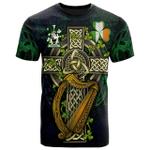 1sttheworld Ireland T-Shirt - Perkins Irish Family Crest and Celtic Cross A7