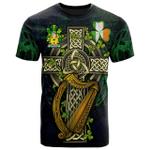 1sttheworld Ireland T-Shirt - Vandeleur Irish Family Crest and Celtic Cross A7