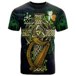 1sttheworld Ireland T-Shirt - Woodford Irish Family Crest and Celtic Cross A7