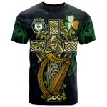 1sttheworld Ireland T-Shirt - House of O'DOWLING Irish Family Crest and Celtic Cross A7