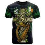1sttheworld Ireland T-Shirt - Staunton Irish Family Crest and Celtic Cross A7