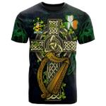 1sttheworld Ireland T-Shirt - Lombard Irish Family Crest and Celtic Cross A7