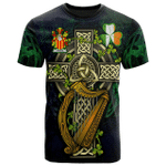 1sttheworld Ireland T-Shirt - Theede Irish Family Crest and Celtic Cross A7