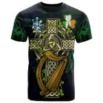 1sttheworld Ireland T-Shirt - Keane or O'Cahan Irish Family Crest and Celtic Cross A7