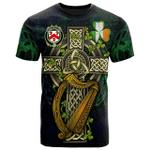 1sttheworld Ireland T-Shirt - House of O'CASEY Irish Family Crest and Celtic Cross A7