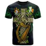 1sttheworld Ireland T-Shirt - Chichester Irish Family Crest and Celtic Cross A7