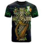 1sttheworld Ireland T-Shirt - Hopkins Irish Family Crest and Celtic Cross A7