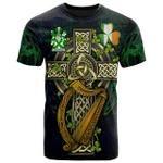 1sttheworld Ireland T-Shirt - Ancketill Irish Family Crest and Celtic Cross A7
