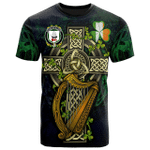1sttheworld Ireland T-Shirt - House of O'LEARY Irish Family Crest and Celtic Cross A7