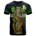 1sttheworld Ireland T-Shirt - Melody or O'Moledy Irish Family Crest and Celtic Cross A7