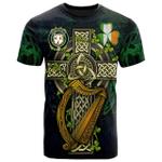 1sttheworld Ireland T-Shirt - House of DOYLE Irish Family Crest and Celtic Cross A7