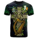 1sttheworld Ireland T-Shirt - James Irish Family Crest and Celtic Cross A7