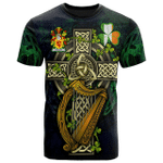 1sttheworld Ireland T-Shirt - Colley or McColley Irish Family Crest and Celtic Cross A7
