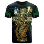 1sttheworld Ireland T-Shirt - Pitt Irish Family Crest and Celtic Cross A7