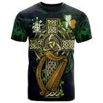 1sttheworld Ireland T-Shirt - Donegan or O'Donagan Irish Family Crest and Celtic Cross A7