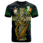 1sttheworld Ireland T-Shirt - Toomey or O'Twomey Irish Family Crest and Celtic Cross A7