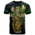 1sttheworld Ireland T-Shirt - Clarke Irish Family Crest and Celtic Cross A7