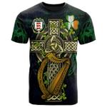 1sttheworld Ireland T-Shirt - House of MACCOGHLAN Irish Family Crest and Celtic Cross A7