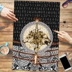 Viking Style Premium Wood Jigsaw Puzzle (Vertical) - Wolf and Vikings Tattoo 3D A27