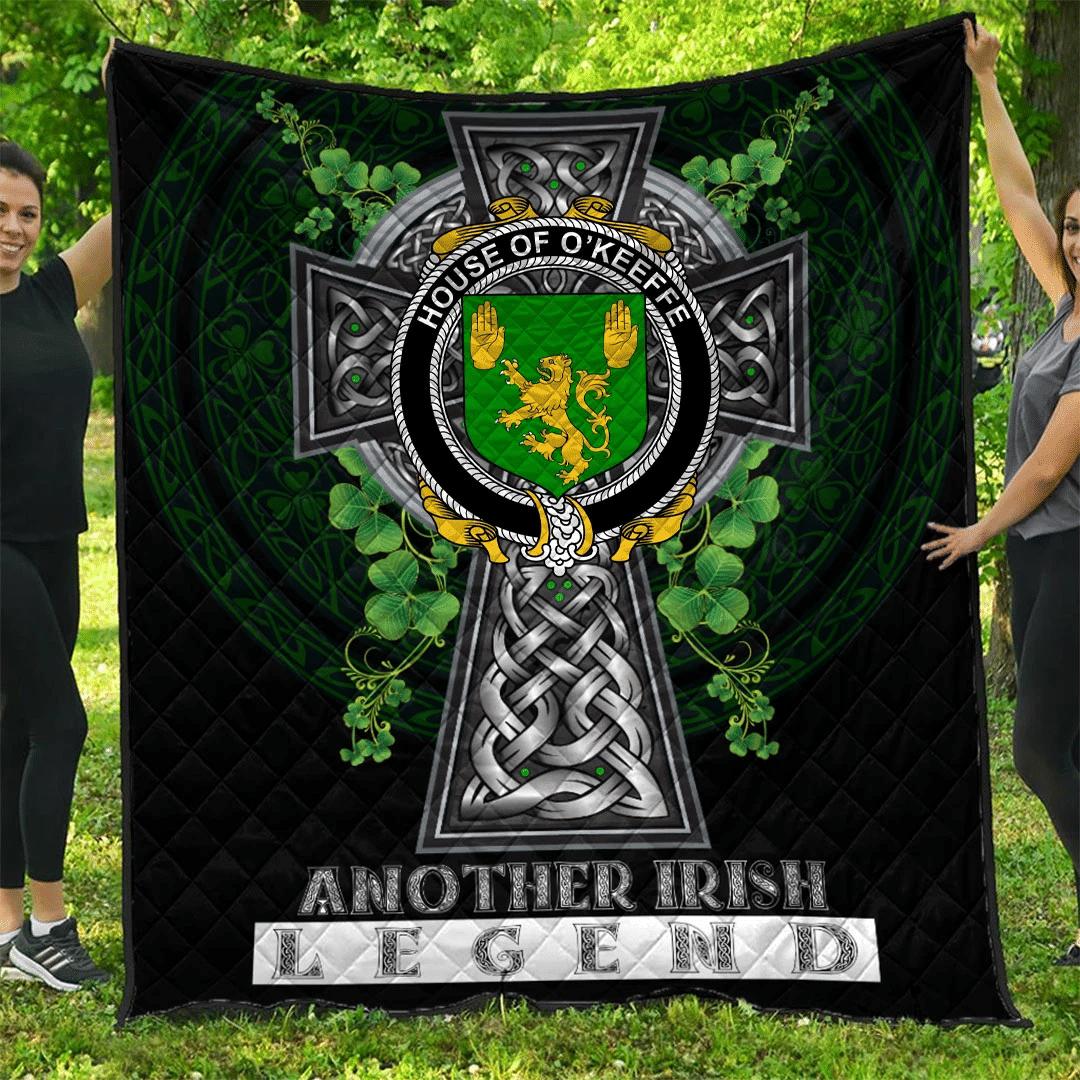1sttheworld Premium Quilt - House of O'KEEFFE Irish Family Crest Quilt - Irish Legend A7