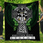 1sttheworld Premium Quilt - Brounker Irish Family Crest Quilt - Irish Legend A7