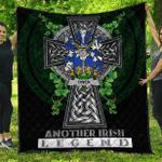 1sttheworld Premium Quilt - Owen Irish Family Crest Quilt - Irish Legend A7