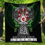 1sttheworld Premium Quilt - Fox Irish Family Crest Quilt - Irish Legend A7
