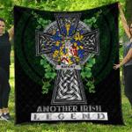 1sttheworld Premium Quilt - Mahony or O'Mahoney Irish Family Crest Quilt - Irish Legend A7