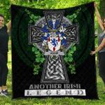 1sttheworld Premium Quilt - Adair Irish Family Crest Quilt - Irish Legend A7