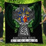 1sttheworld Premium Quilt - English Irish Family Crest Quilt - Irish Legend A7