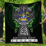 1sttheworld Premium Quilt - Borough Irish Family Crest Quilt - Irish Legend A7
