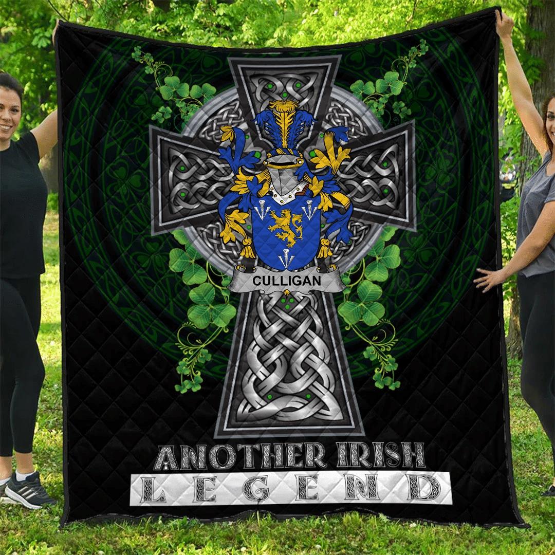 1sttheworld Premium Quilt - Culligan or McColgan Irish Family Crest Quilt - Irish Legend A7