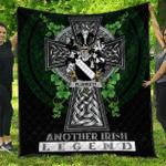 1sttheworld Premium Quilt - Plunkett Irish Family Crest Quilt - Irish Legend A7