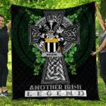 1sttheworld Premium Quilt - Maginn or Ginn Irish Family Crest Quilt - Irish Legend A7