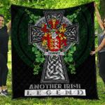 1sttheworld Premium Quilt - Downey or O'Downey Irish Family Crest Quilt - Irish Legend A7