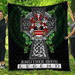 1sttheworld Premium Quilt - Harrison Irish Family Crest Quilt - Irish Legend A7
