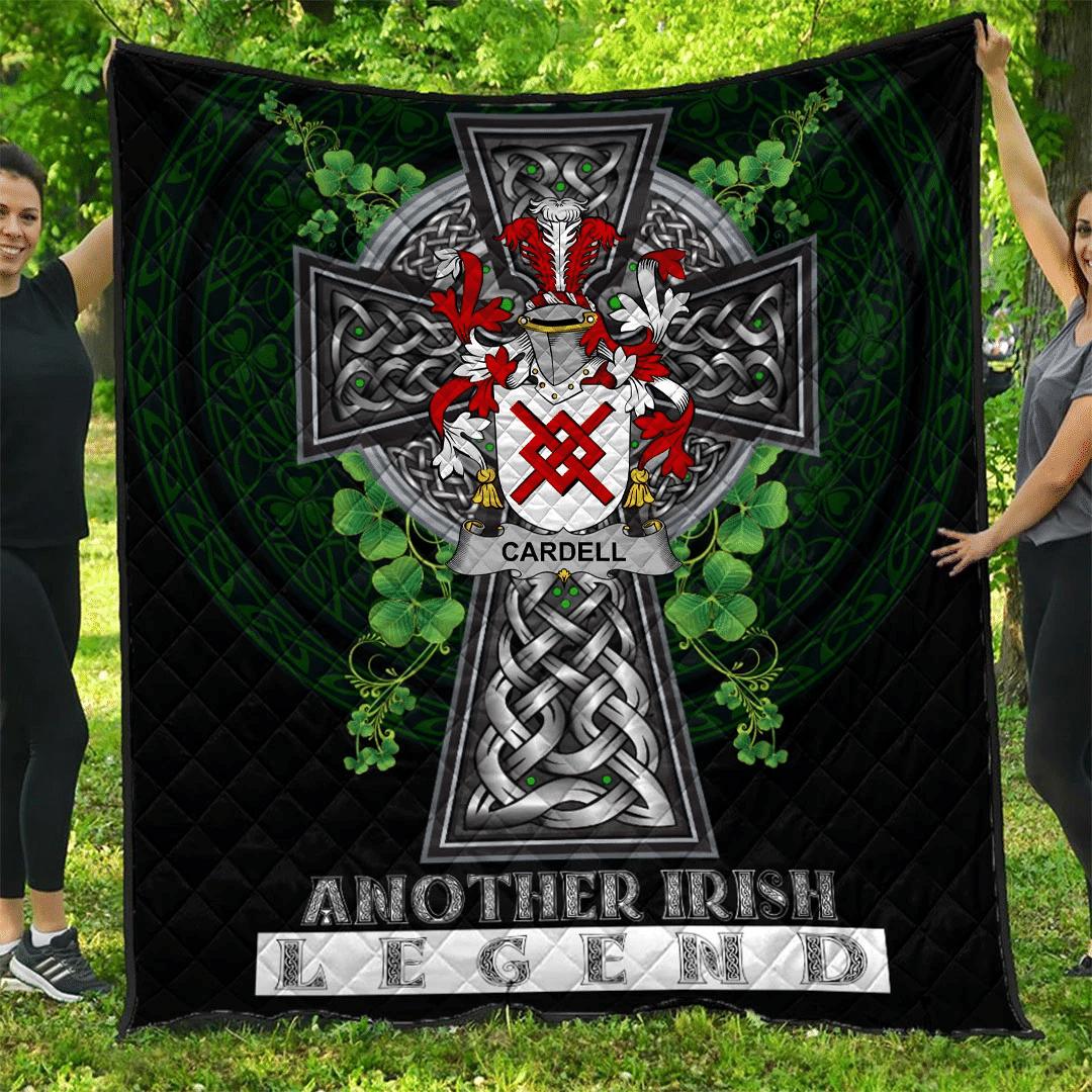 1sttheworld Premium Quilt - Cardell Irish Family Crest Quilt - Irish Legend A7