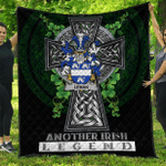 1sttheworld Premium Quilt - Leman or Lemon Irish Family Crest Quilt - Irish Legend A7