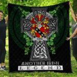 1sttheworld Premium Quilt - Ivers Irish Family Crest Quilt - Irish Legend A7