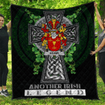 1sttheworld Premium Quilt - Adams Irish Family Crest Quilt - Irish Legend A7