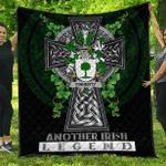 1sttheworld Premium Quilt - Finnerty or O'Finaghty Irish Family Crest Quilt - Irish Legend A7