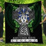 1sttheworld Premium Quilt - McElroy or Gilroy Irish Family Crest Quilt - Irish Legend A7