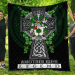 1sttheworld Premium Quilt - Crowe or McEnchroe Irish Family Crest Quilt - Irish Legend A7