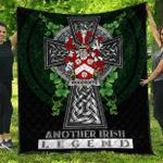 1sttheworld Premium Quilt - Woodroffe Irish Family Crest Quilt - Irish Legend A7