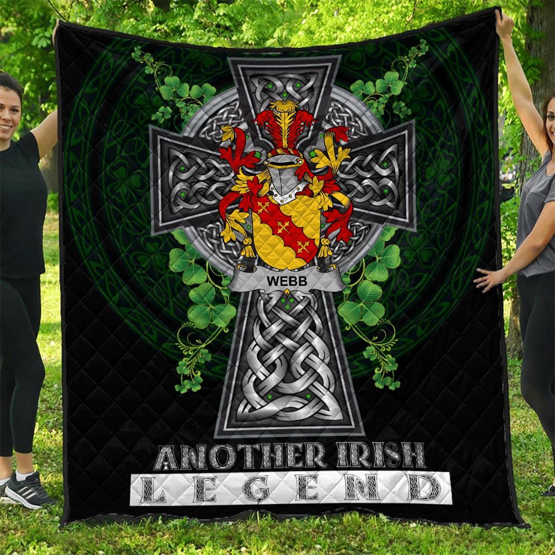 1sttheworld Premium Quilt - Webb Irish Family Crest Quilt - Irish Legend A7
