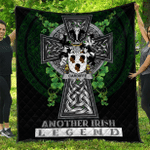 1sttheworld Premium Quilt - Cardiffe Irish Family Crest Quilt - Irish Legend A7