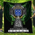 1sttheworld Premium Quilt - House of DARCY Irish Family Crest Quilt - Irish Legend A7